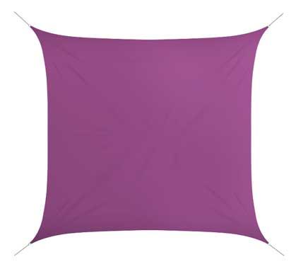 voile d 39 ombrage 5x5 m rouge brique 180g m2 69 salon d 39 t. Black Bedroom Furniture Sets. Home Design Ideas