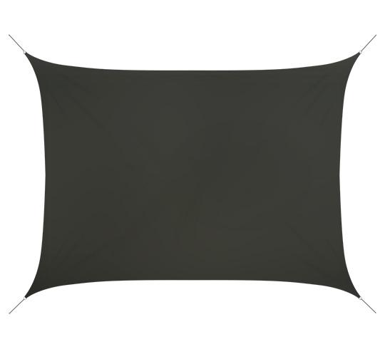voile d 39 ombrage rectangulaire 4 5x3 5 m gris 180g m2 52 salon d 39 t. Black Bedroom Furniture Sets. Home Design Ideas