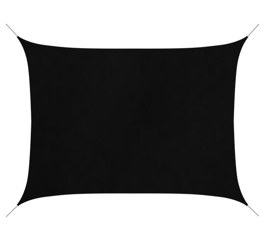 voile d 39 ombrage rectangulaire 4 5x3 5 m noir 180g m2 52 salon d 39 t. Black Bedroom Furniture Sets. Home Design Ideas