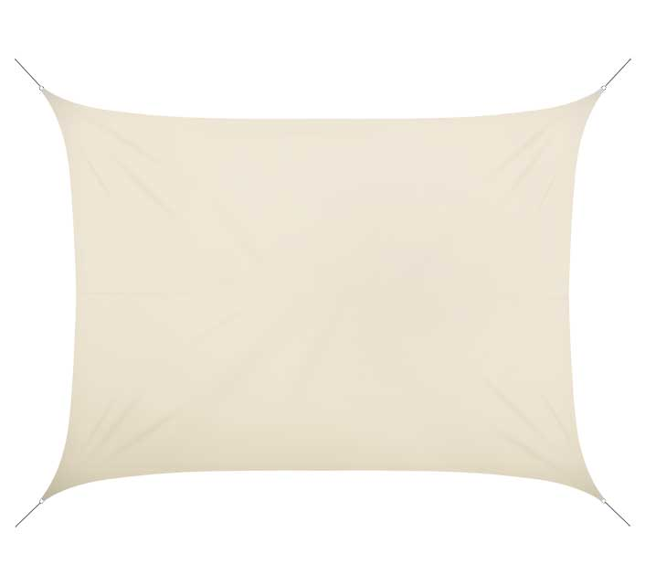 voile d 39 ombrage rectangulaire 5x4 m beige 180g m2 58 salon d 39 t. Black Bedroom Furniture Sets. Home Design Ideas