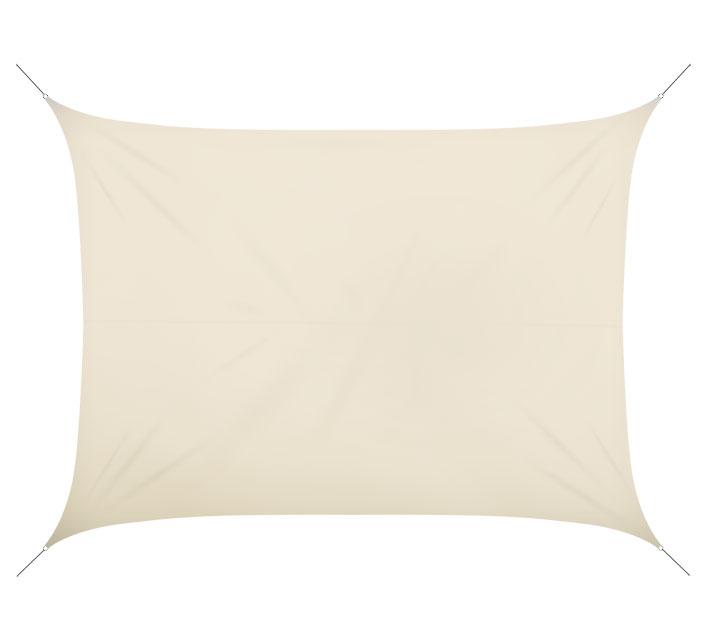 voile d 39 ombrage rectangulaire 6x4 m beige 280g m2 139. Black Bedroom Furniture Sets. Home Design Ideas