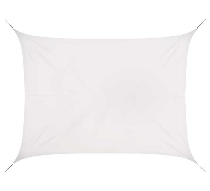 Voile D\'ombrage Rectangulaire 6x4 m Blanc Glacier 180g/m2 76€ | Salon