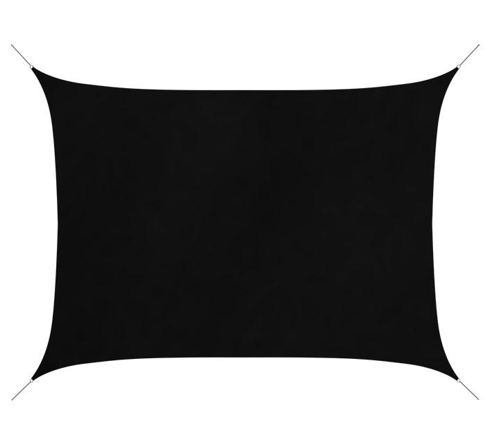 Voile D\'ombrage Rectangulaire 6x4 m Noir 180g/m2 76€ | Salon d\'été