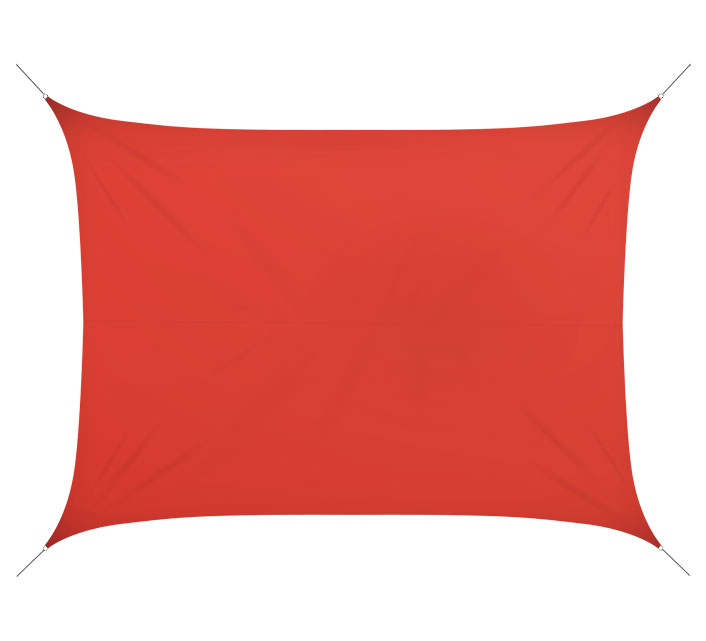 Voile D\'ombrage Rectangulaire 6x4 m Rouge Brique 180g/m2 76€ | Salon