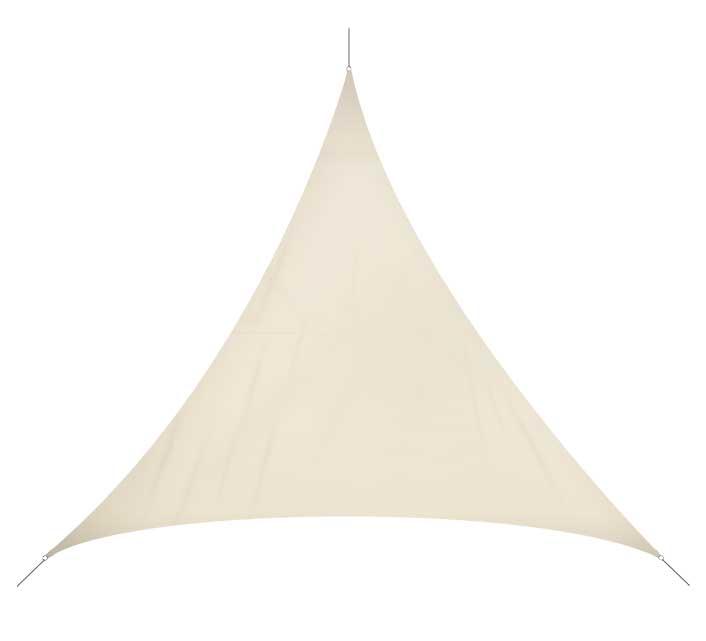 voile d 39 ombrage triangulaire 3x3x3 m beige 180g m2 32. Black Bedroom Furniture Sets. Home Design Ideas