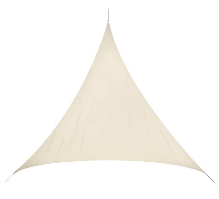 Voile d 39 ombrage triangulaire 3x3x3 m beige 180g m2 32 salon d 39 t - Voile d ombrage triangulaire gifi ...