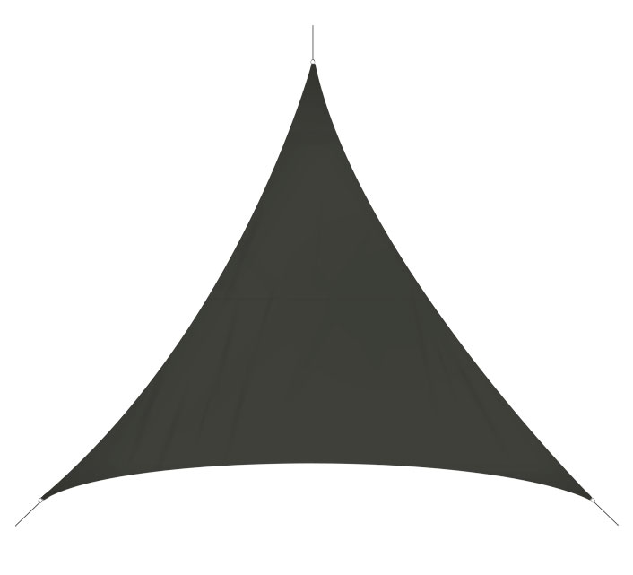 Voile D'ombrage Triangulaire 3x3x3 m Gris 180g/m2