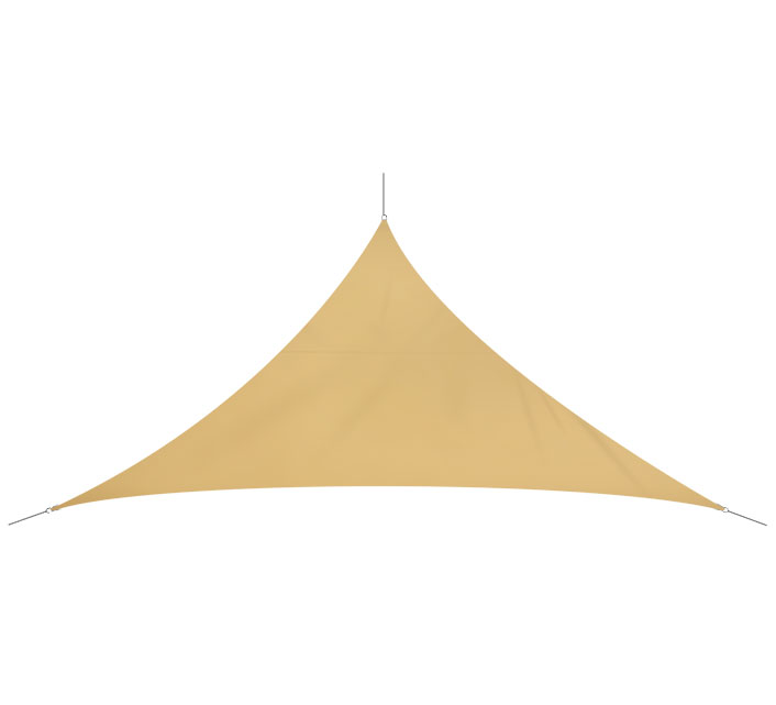 Voile D'ombrage Triangulaire 3,6x3,6x5,1 m Sable 180g/m2