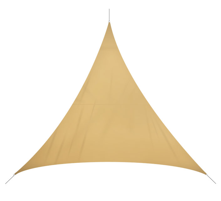 Voile D'ombrage Triangulaire 4x4x4 m Sable 180g/m2